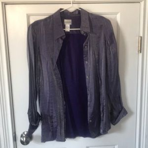 Purple shimmery blouse Chico's